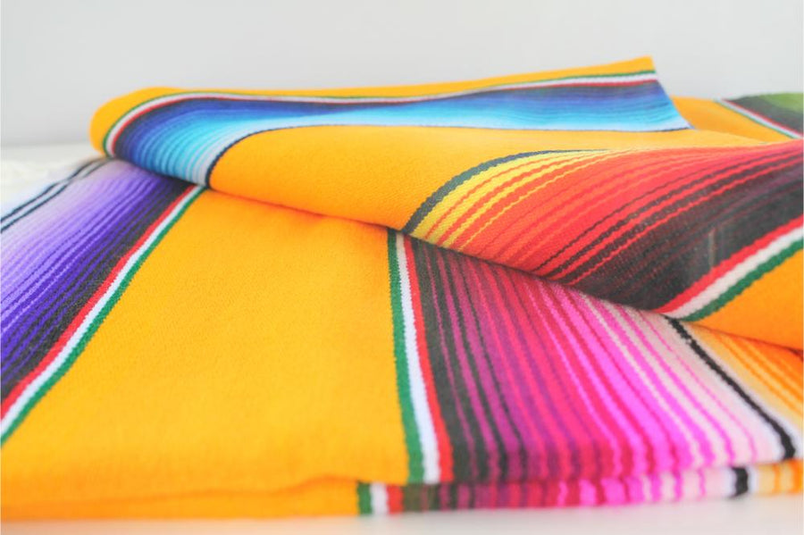 Mexican Striped Sarape Blanket