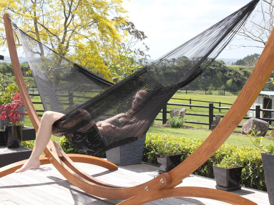 Hammock on deck with stand