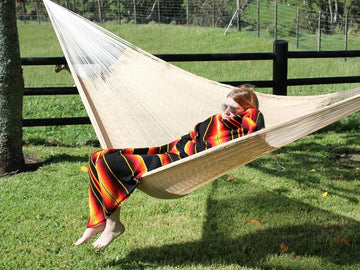 Beige Mexican Cotton Hammock