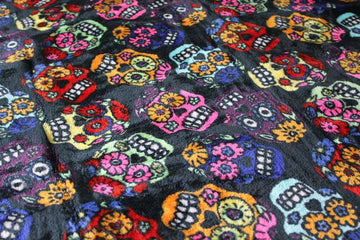 Day of the Dead Skulls Throw