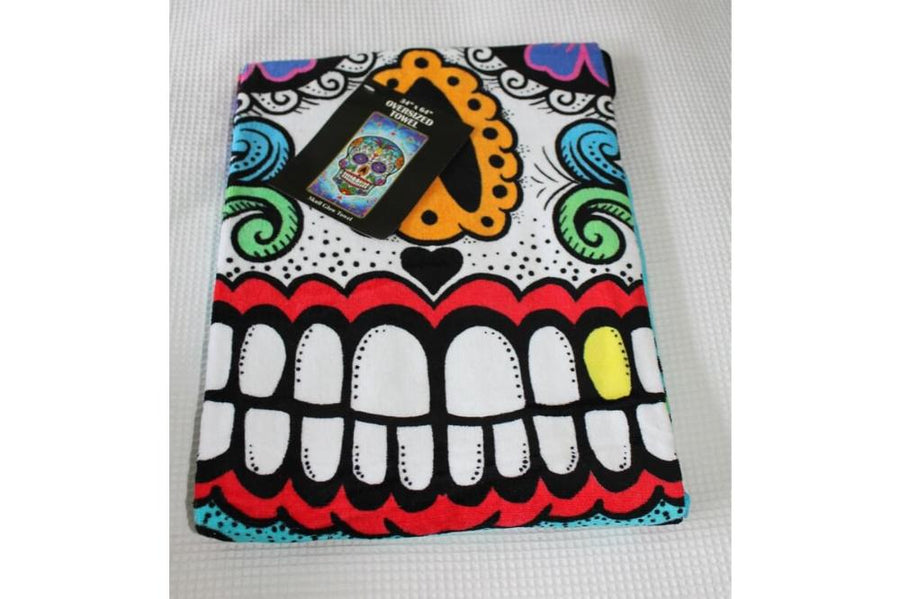 Day of the dead towel