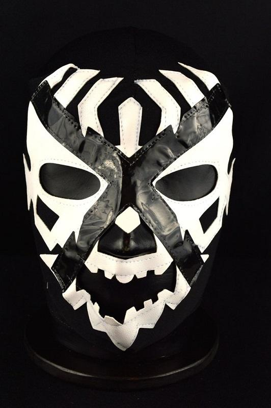 Mexican Wrestling Mask - Doctor X - Black