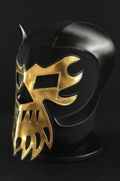 Efesto Black and Gold Mexican Wrestling Mask