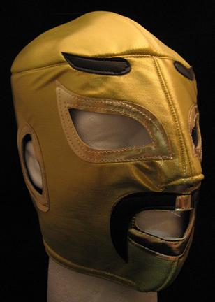 Gold Mexican Wrestling Mask - Lucha Libre Wrestling