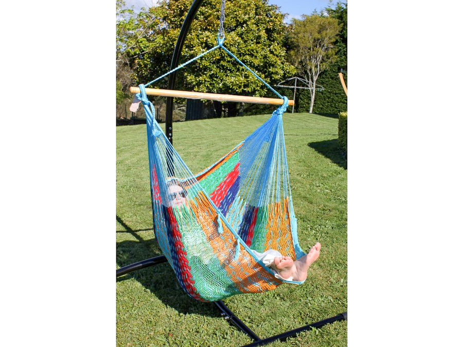 Handmade Mexican Cotton Chair Hammock