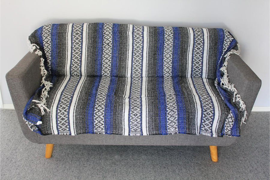 Blue Striped Throw