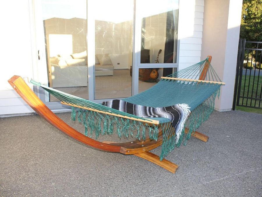 Green Mexican resort style hammock