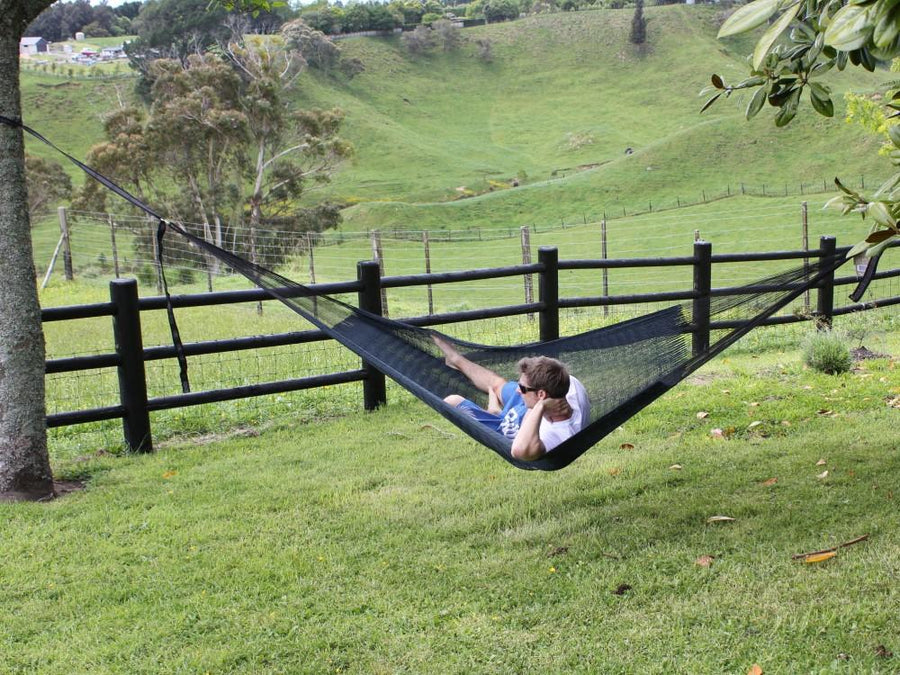 Black Mexican Hammock - Cotton - Woven
