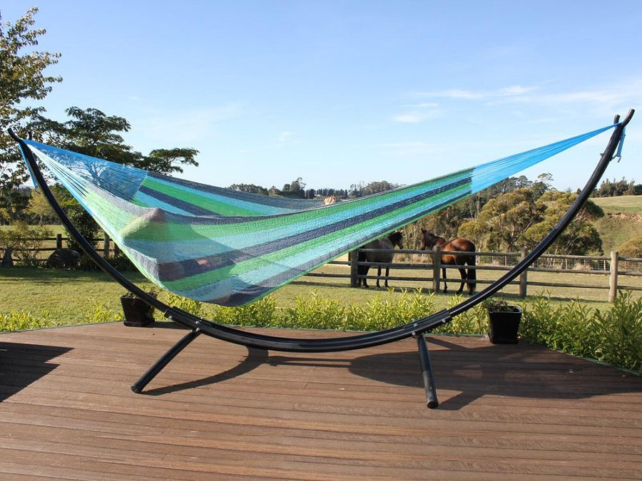 Hammock stand for deck