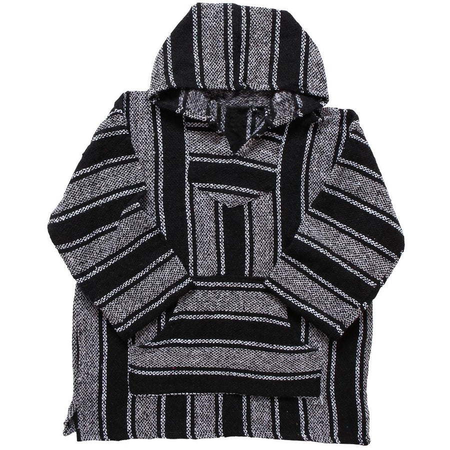 Striped Hoodie - Black and White