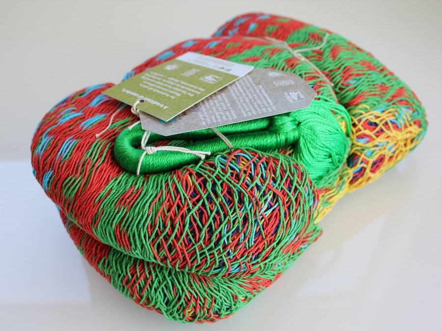 Bright Coloured Cotton Mexican Hammock