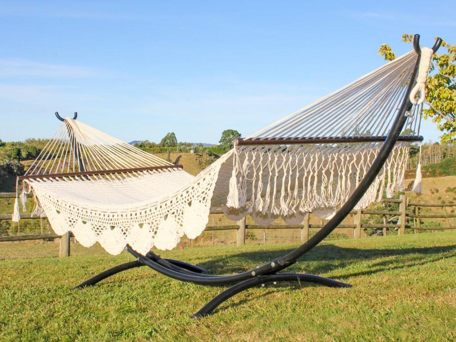 King Size Mexican Hammock with Metal Arc Hammock Stand