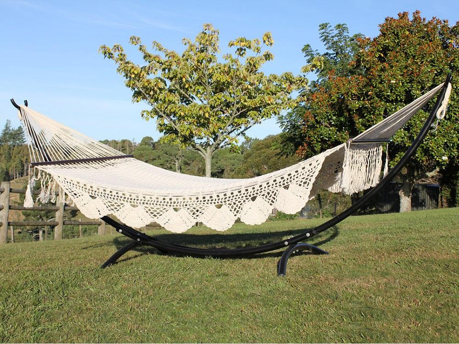 King size resort hammock and metal stand