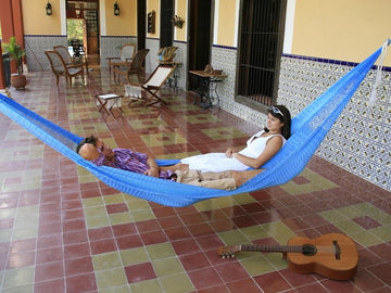 Mexican hammock on verandah