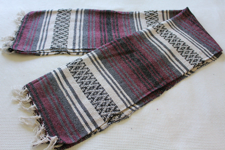 Striped Mexican Yoga Rug