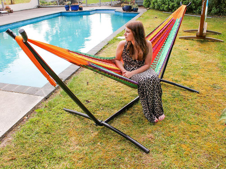 Metal stand for hammock