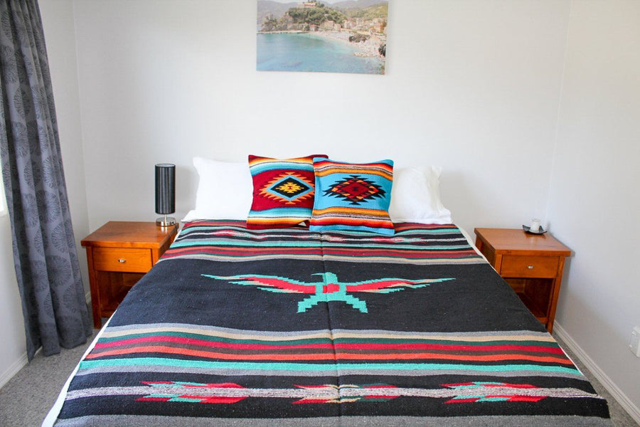Large Heavy Weight Mexican Bed Blanket