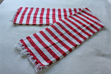 Mexican Falsa Blanket - Red and White