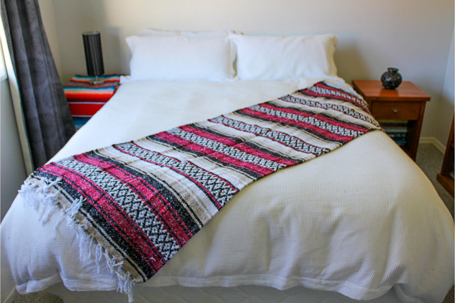 Thick Soft Mexican Blanket - Loose Handweave