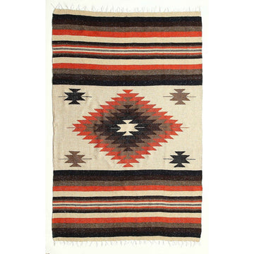 Natural Coloured Mexican Saltillo Blanket