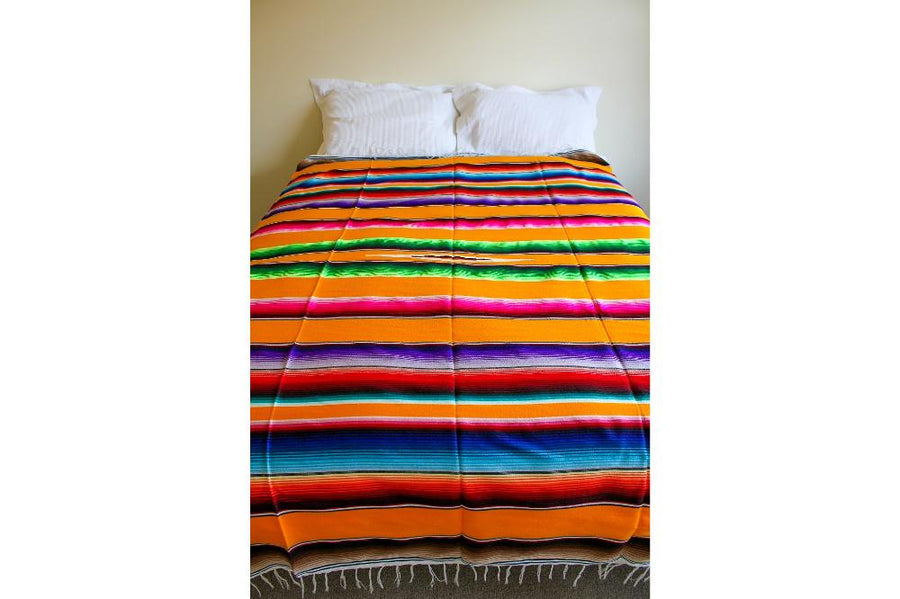 Mexican Yellow Colourful Bedspread