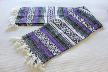 Purple Falsa Style Mexican Blanket