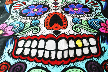 Mexican Day of the Dead Colourful Skull