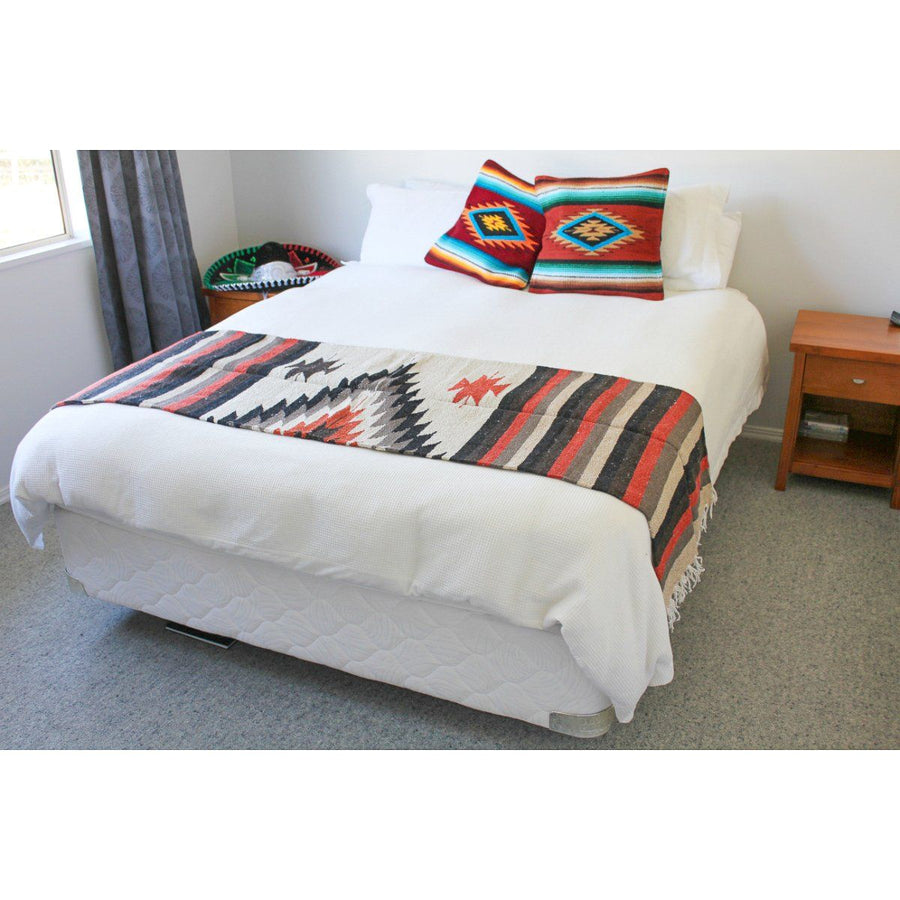 Mexican Style Diamond Blanket - Beige