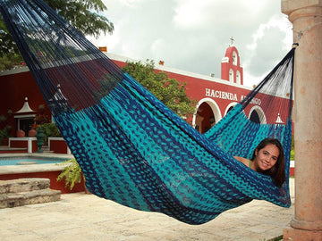 Mexican Hammock - Double Blue