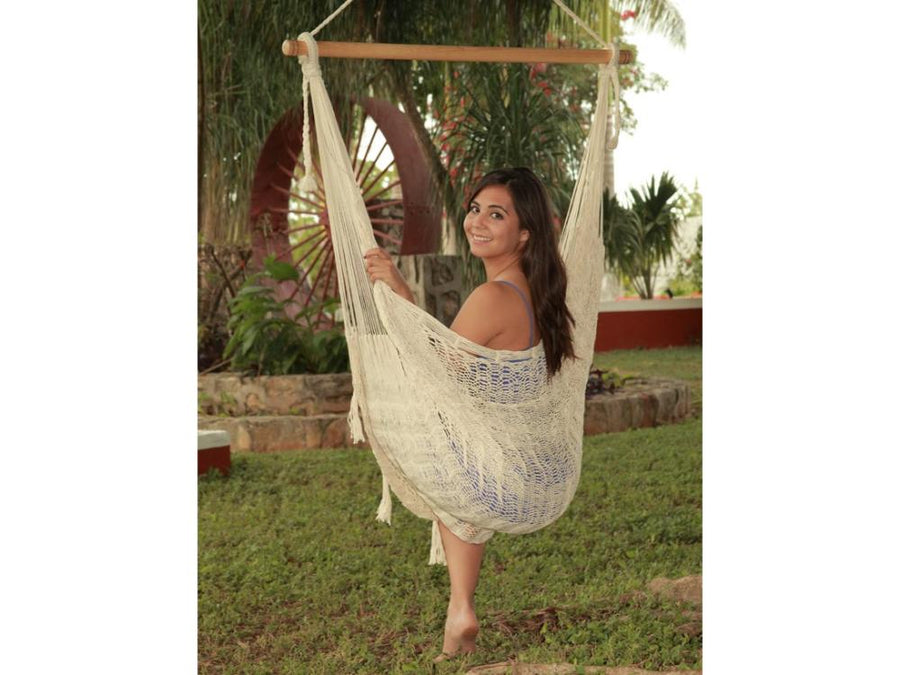 Mexican Swing Chair Hammock - White