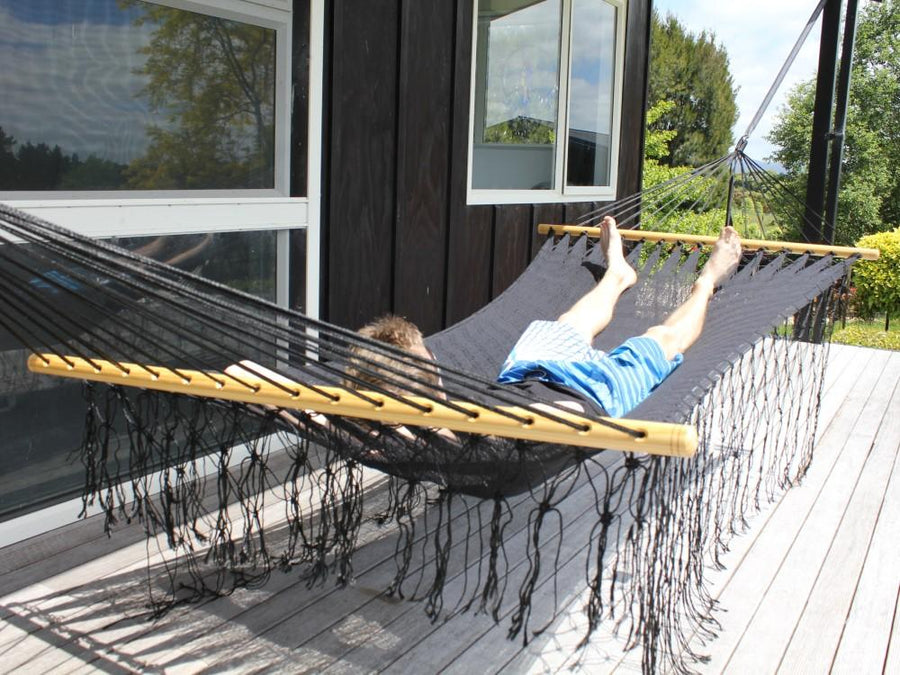 Black Polyester Mexican Hammock