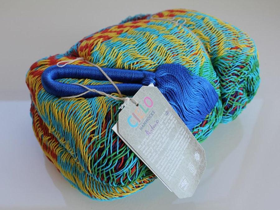 Mexican Cotton Interwoven Colourful Hammock