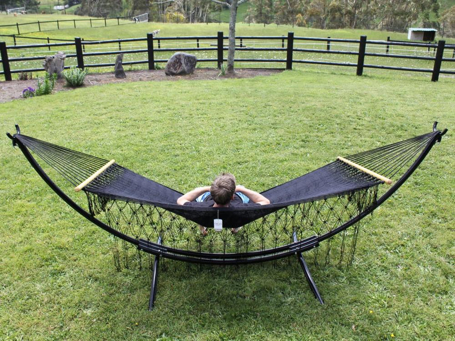 Metal Arc Stand with Polyester Mexican Hammock