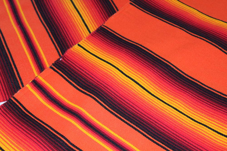 Tequila Sunrise Mexican Blanket