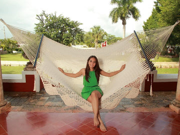 Mexican Handmade Hammock - Woven White Cotton