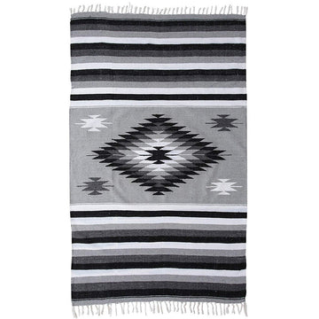 Grey and Black Saltillo Blanket