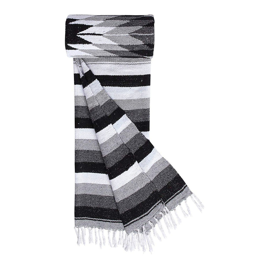 Mexican Diamond Blanket - Grey and Black