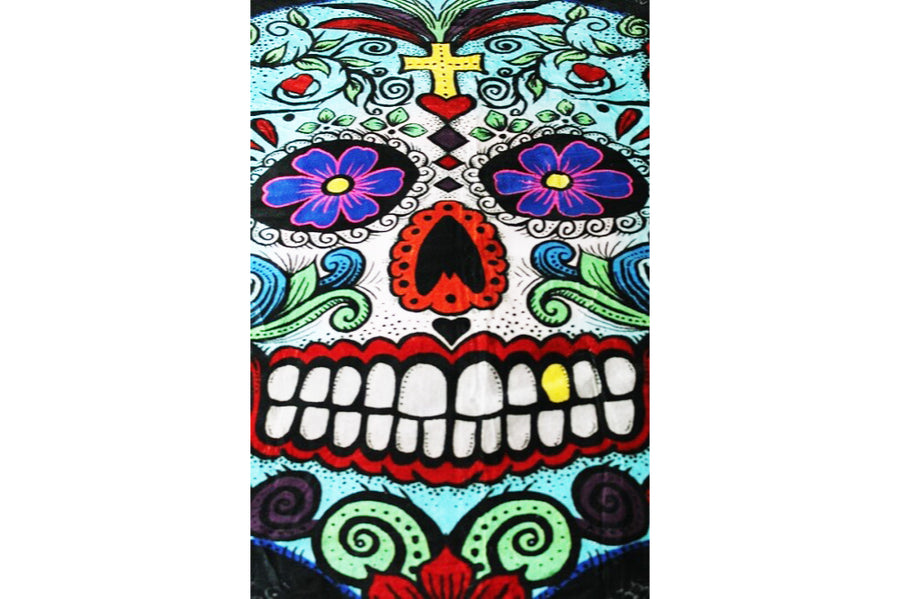 Mexican throw - skull design