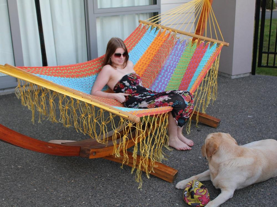 Brightly Coloured Mexican Hammock