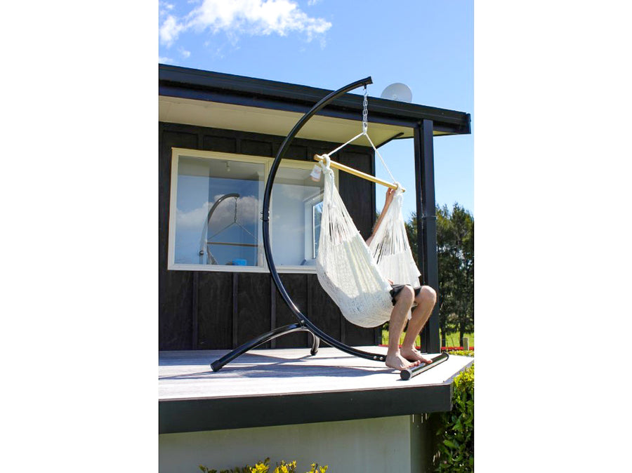 Outdoor Weather Resistant Chair Hammock and Stand