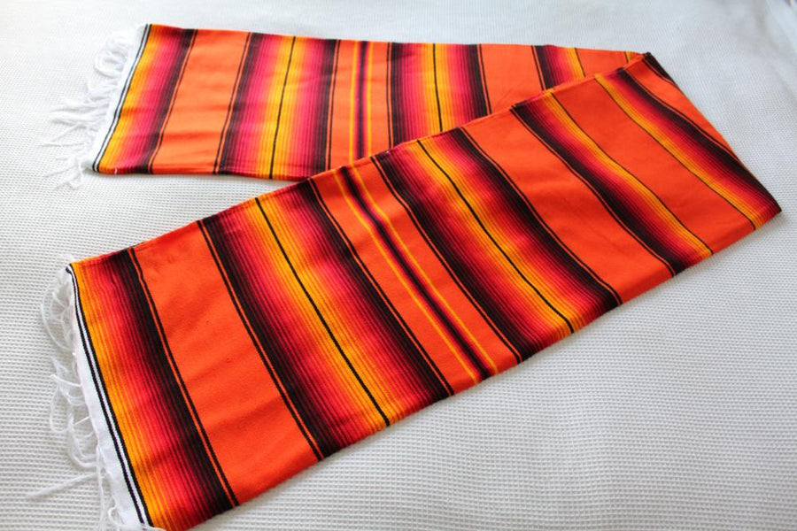 Orange and Black Mexican Blanket