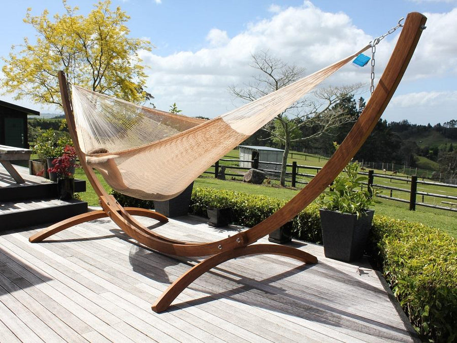 Mexican Hammock and Wooden Stand