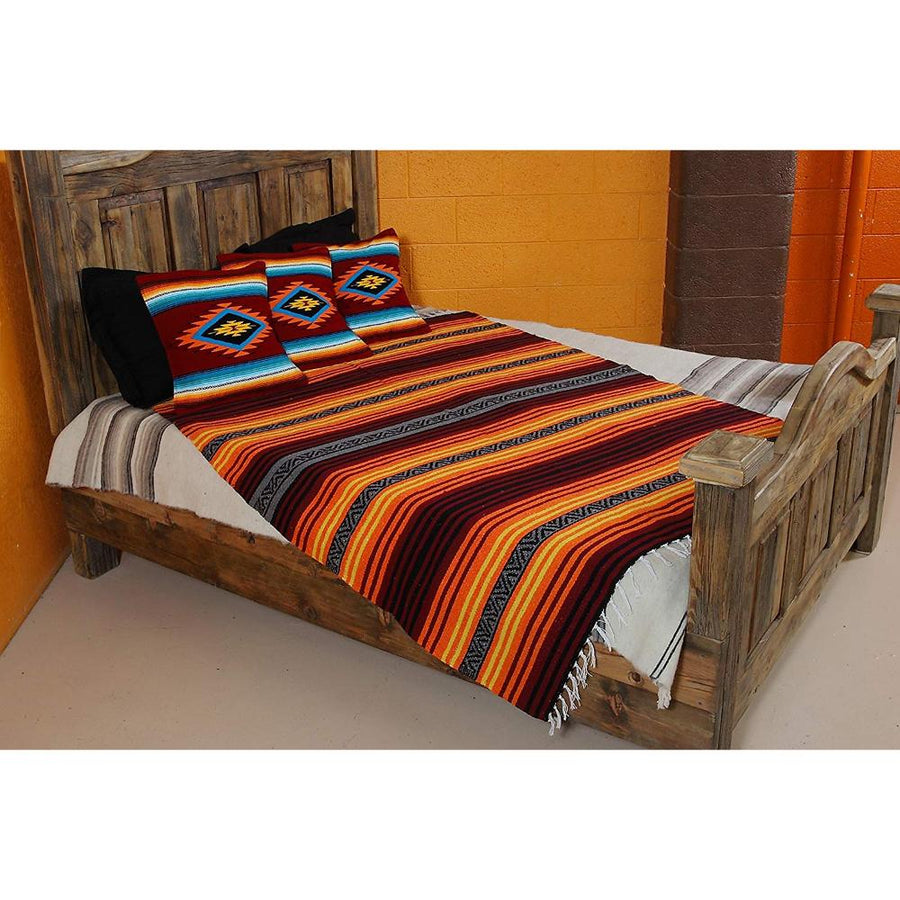 Mexican Cushion Covers on Bed