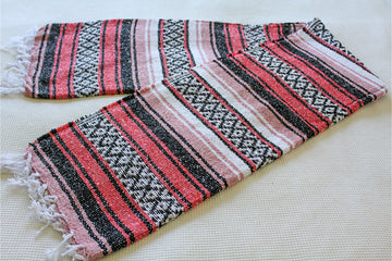 Pink Toned Mexican Falsa Blanket
