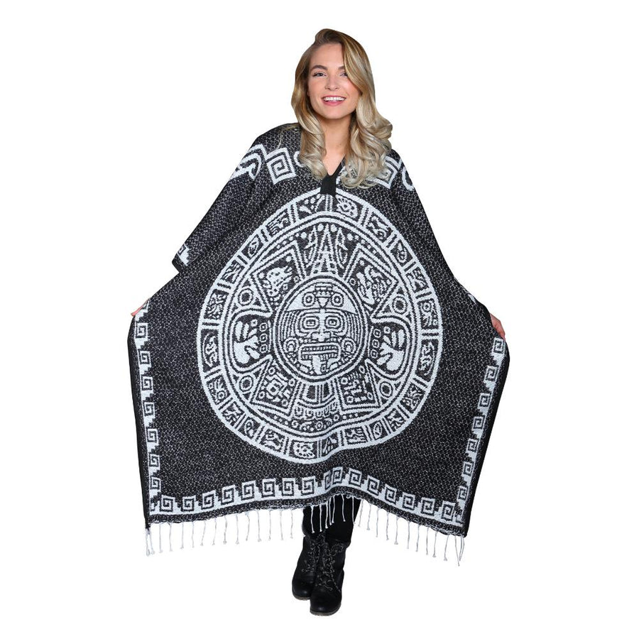 Slip on Poncho - Aztec Mexican Design
