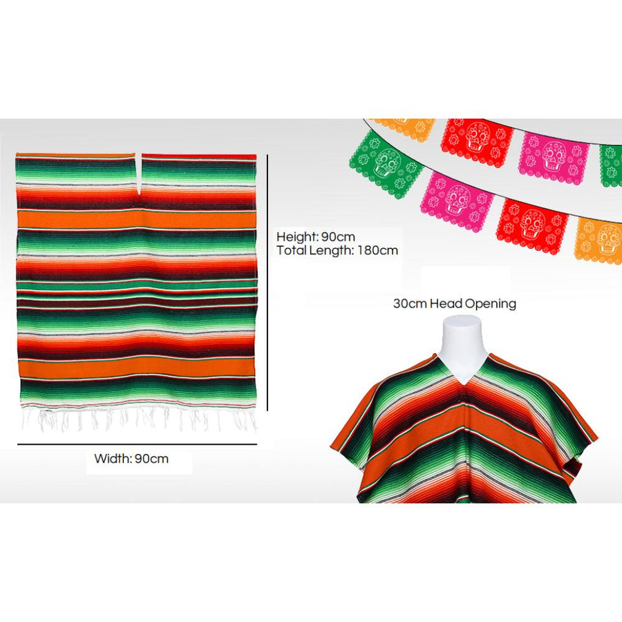 Mexican Poncho Size - One Size Fits All