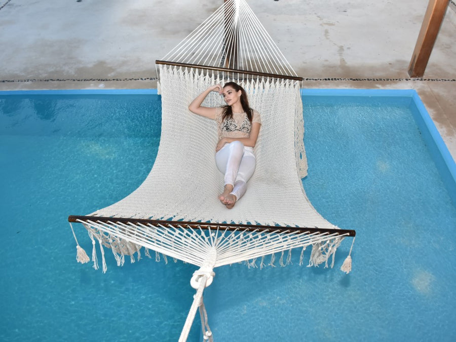 King Size Resort Hammock Over Swimming Pool