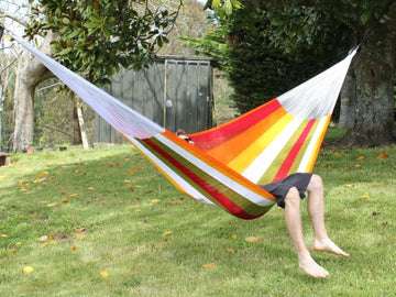 Bright and Colourful Mexican Woven Hammock