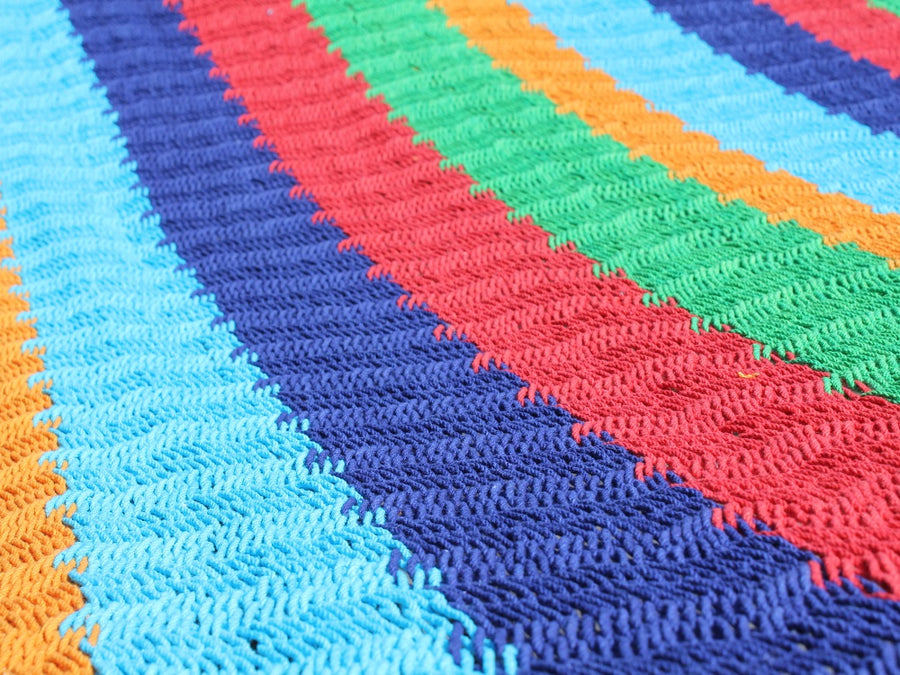 Rainbow Coloured Hammock - Mexican Made Bar Hammock