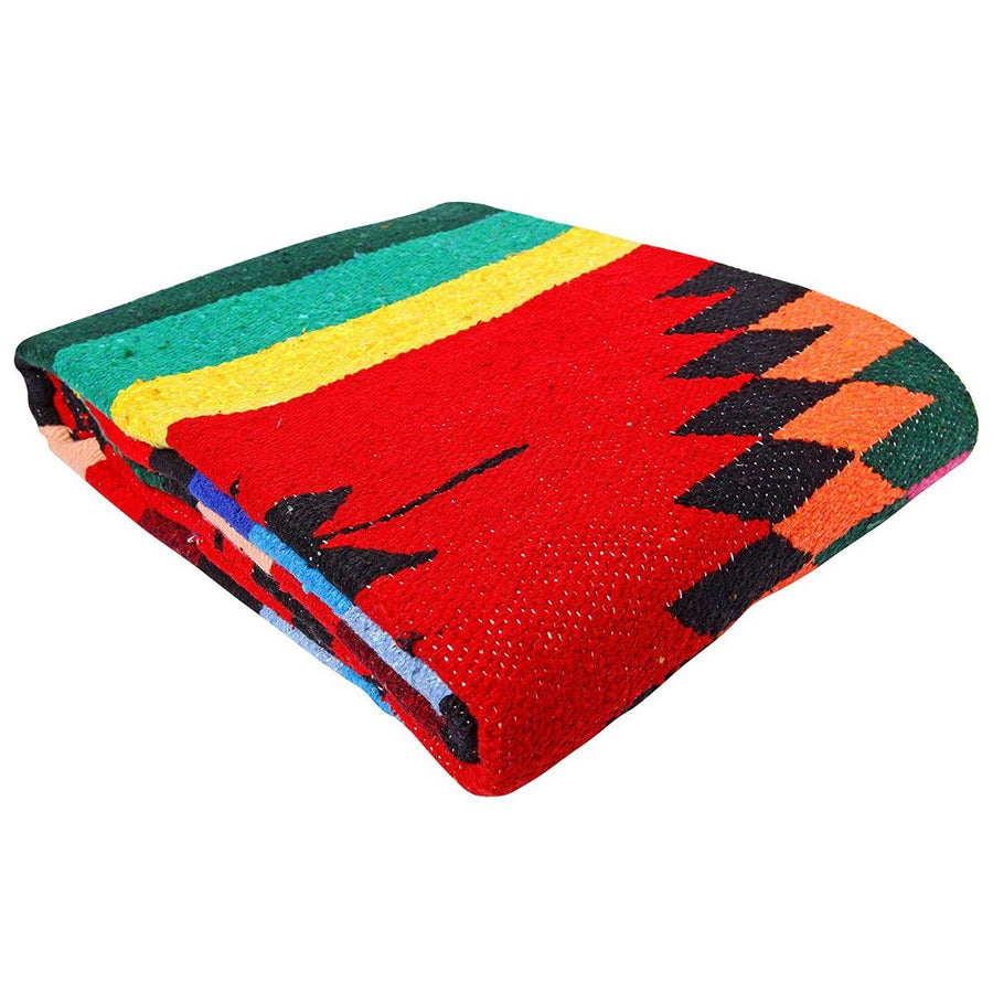 Red Mexican Saltillo Blanket